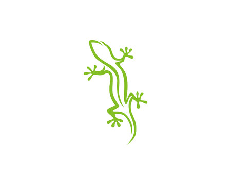 Gecko green icon Standard-Bild - 111263965