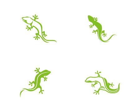Gecko green icon Illustration