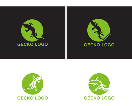 Gecko green logo vector
