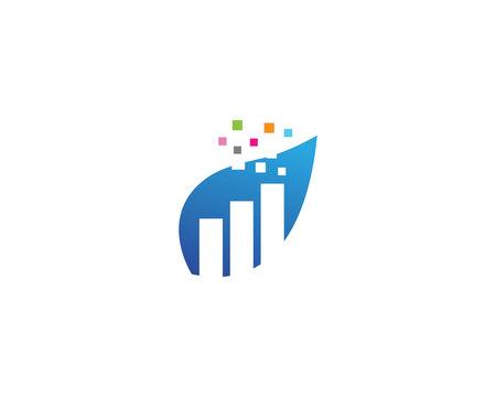 finance icon and symbols vector concept illustration Illustration