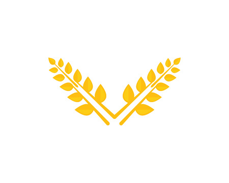 wheat icon Template vector Illustration