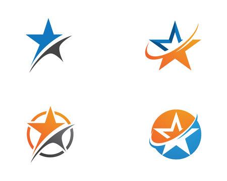 Star Template vector icon illustration Ilustração Vetorial