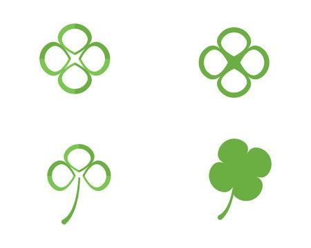 Green Clover Leaf Template Design