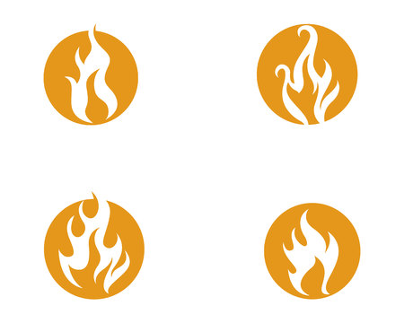 Fire flame vector illustration design template