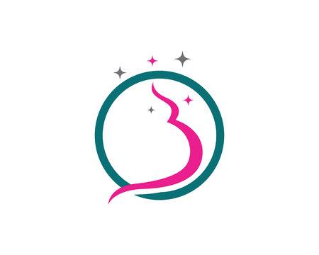 Pregnant template vector icon illustration design