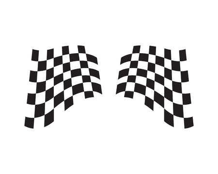 Race flag icon, simple design race flag template