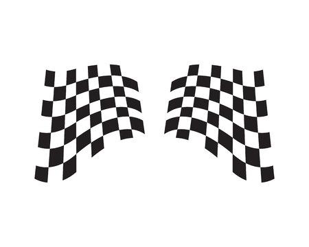 Race flag icon, simple design race flag template