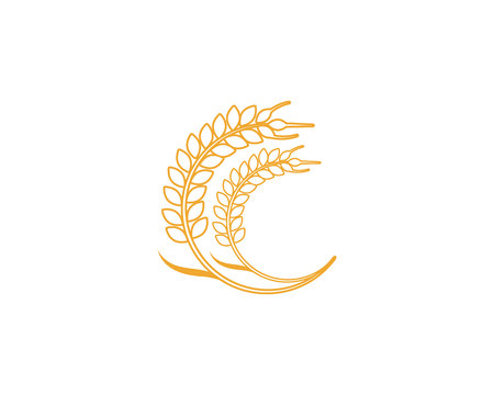 Agriculture wheat Template vector icon design Иллюстрация