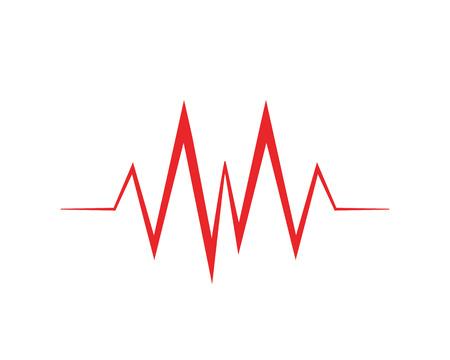 Art design health medical heartbeat pulse - Vector