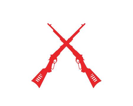 Gun vector symbol template Illustration