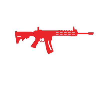Gun vector symbol template