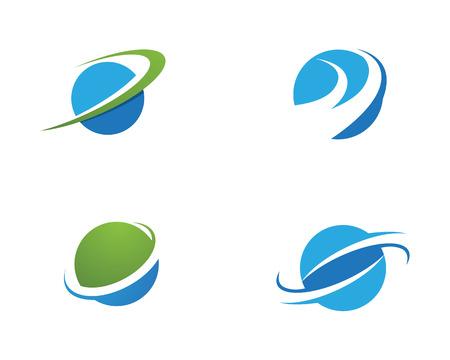 globe ilustration vector template - Vector