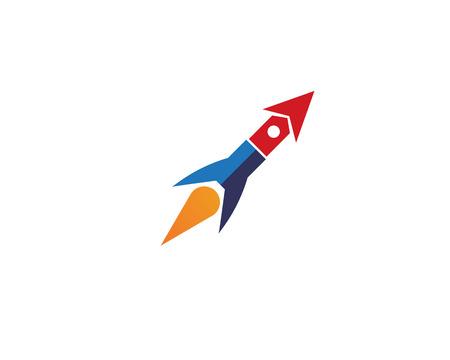 Rocket ilustration vector icon template - Vector