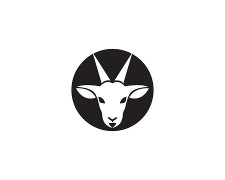 Goat Template vector