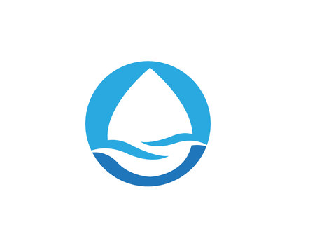 water drop icon Template vector illustration design