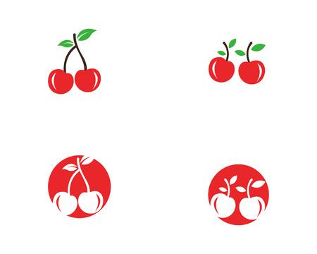 Cherry icon template vector