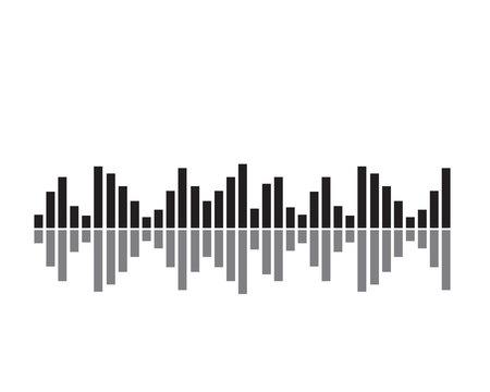 Sound wave illustration symbol Ilustração