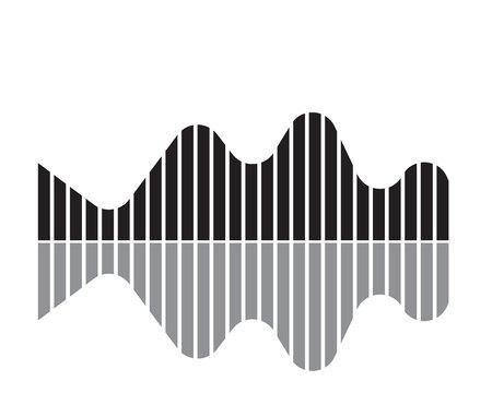 Sound wave illustration symbol Illustration