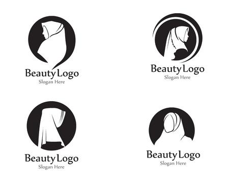 hijab vector black Illustration