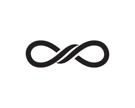 infinity LINE symbol template icons vector