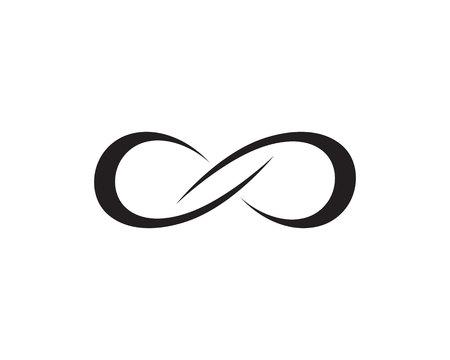vecteur d'icônes de modèle de symbole de ligne infinie Vecteurs