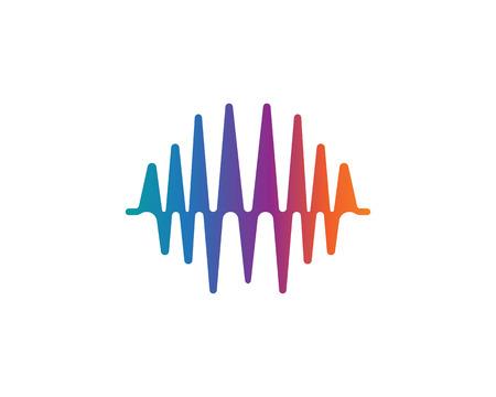 sound wave ilustration vector icon template Иллюстрация