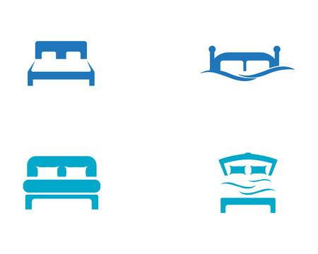Bed symbol hotel business