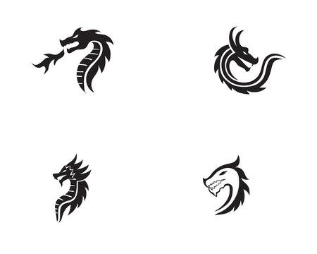 Icono de dragón Ilustración de vector