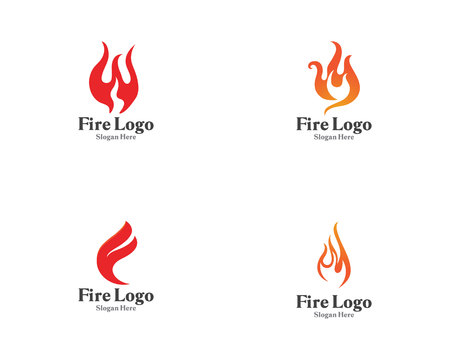 Fire logo symbol gas and oil