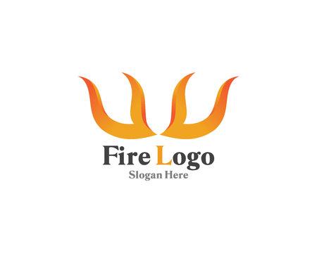 Fire logo symbol gas and oil Logo
