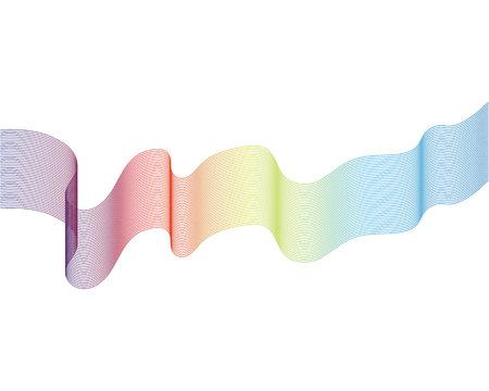 Wave line illustration vector