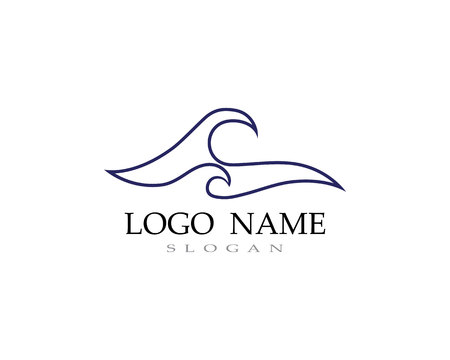 wave water logo beach