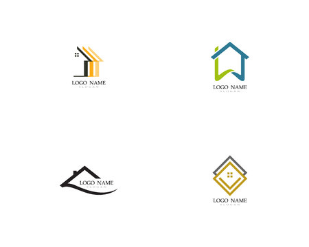 Home and building logo and symbol Illustration
