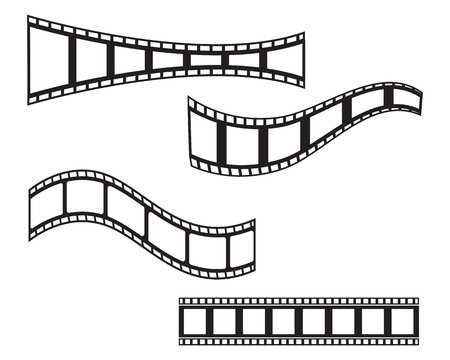 L'icône de bande de film de conception de modèle d'illustration vectorielle Vecteurs