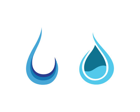 Water drop and leaf Template vector illustration design Ilustrace