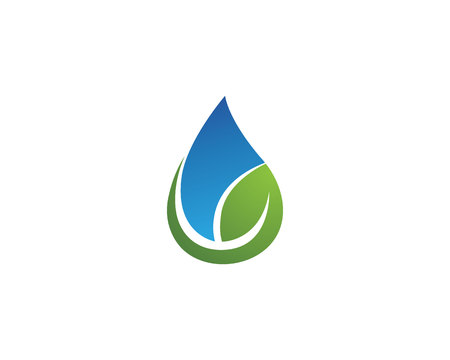 Water drop and leaf template vector illustration design