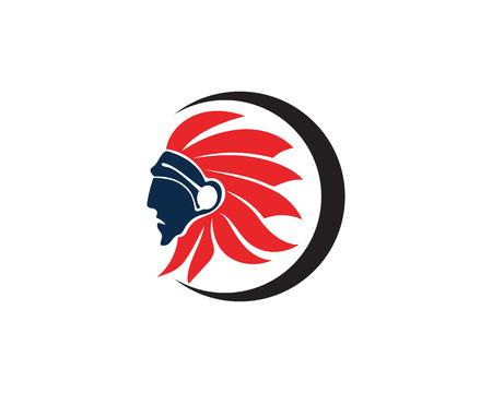Indian apache  Chief Mascot  イラスト・ベクター素材
