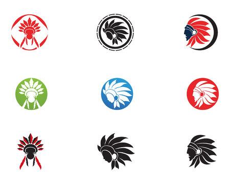 Indian apache Chief Mascot Vektoros illusztráció