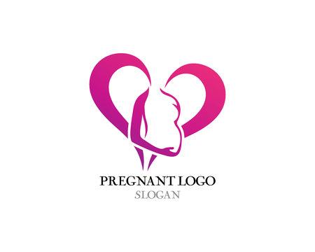Pregnant template vector icon illustration design Vektorové ilustrace