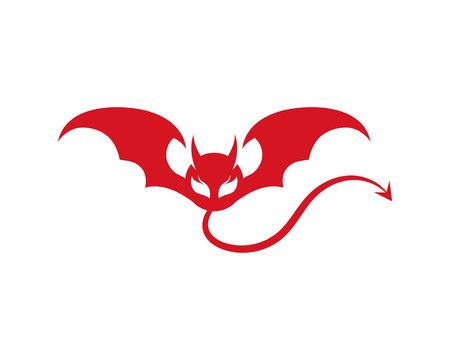 Devil horn Vector icon design illustration Template Иллюстрация
