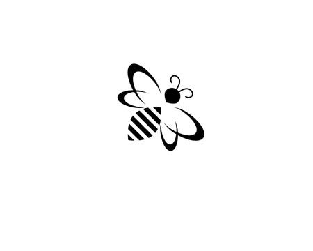 bee logo and symbol vector template