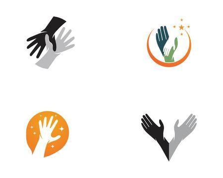 Hand care logo vector template Illustration