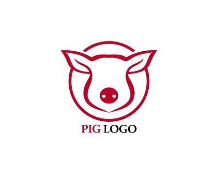 Pig head logo animal vector Logo