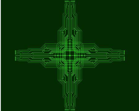 Vector circuit board illustration. EPS10