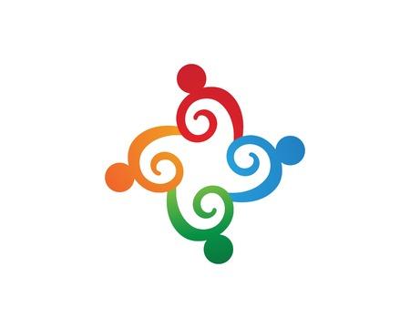 Community group adoption vector Imagens - 118671920