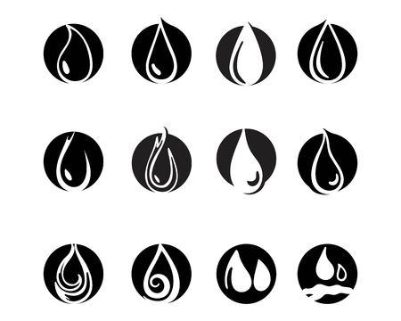 Water drop black n color logo