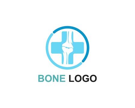 Modèle vectoriel de logo d'os