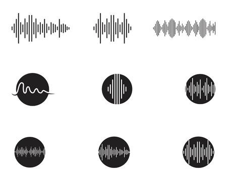 Modèle de conception d'illustration vectorielle d'ondes sonores Vecteurs