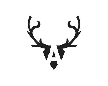 Deer Logo Template vector icon illustration design Ilustrace