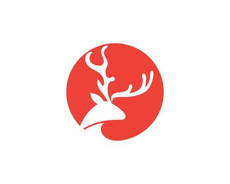 Deer Logo Template vector icon illustration design Иллюстрация
